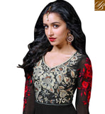 BEWITCHING BLACK FLOOR LENGTH SHRADDHA KAPOOR DRESS ANKS1118 - stylishbazaar - designer Anmoll khwaab sk3 - bollywood salwar kameez - Pishwas - Anarkalis -  online shopping salwar kameez, salwar kameez online shop, shop for salwar kameez online, online shopping designer salwar kameez, salwar suit online