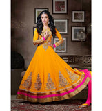EYE-CATCHING YELLOW FLOOR LENGTH SHRADHHA KAPOOR SALWAR SUIT ANKS1119 - Shraddha Kapoor Collection, Designer Shraddha Kapoor Dresses, Shraddha Kapoor Anarkali suits, Designer Anarkali Bollywood, salwar kameez online, designer salwar suits, online salwar kameez, party dresses india, party wear dresses, Eid 2014
