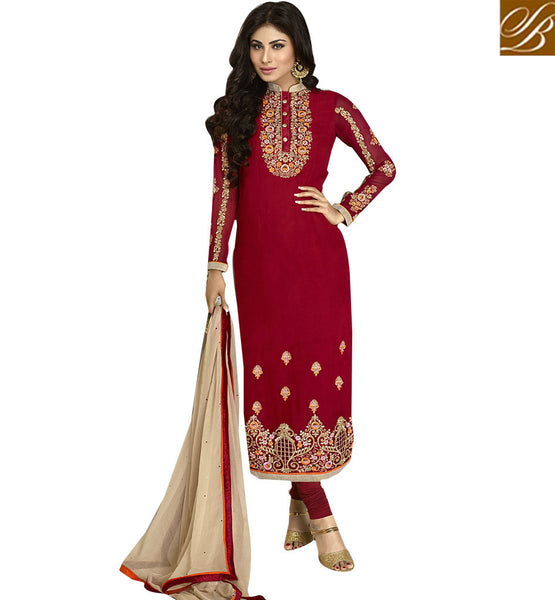 STYLISH BAZAAR TV CELEB MAUNI ROY IN STRAIGHT CUT SALWAAR KAMEEZ ANZN1119