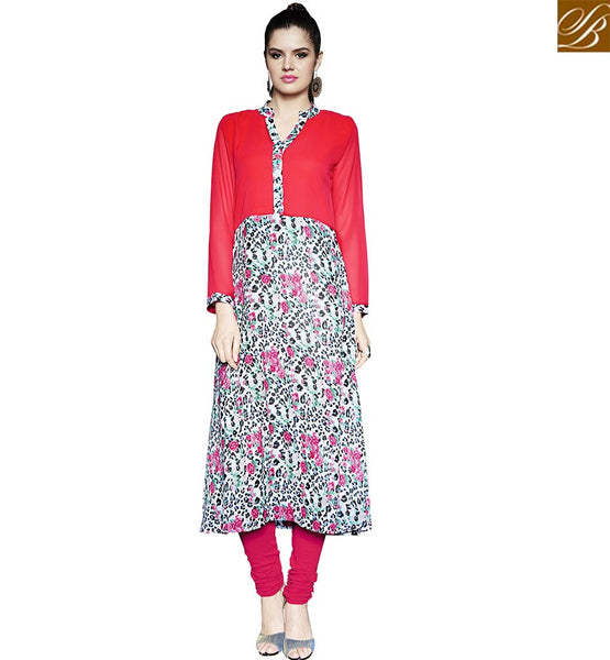 STYLISH BAZAAR ATTRACTIVE DIGITAL FLORAL PRINTED KURTI RTPTY111