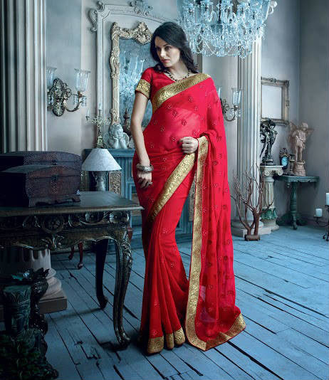 Stone Work party wear sarees