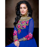 BOLD BLUE COLOR SHRADDHA KAPOOR DRESS ANKS1120 | US UK UAE CANADA stylishbazaar - designer Anmoll khwaab sk3 - bollywood salwar kameez - Pishwas - Anarkalis -  | www.stylishbazaar.com Premiere Online Portal for Ethnic Indian Women's Wear | Sarees | Lehenega Cholis | Kurtis | Churidar Dresses, online churidar shopping,