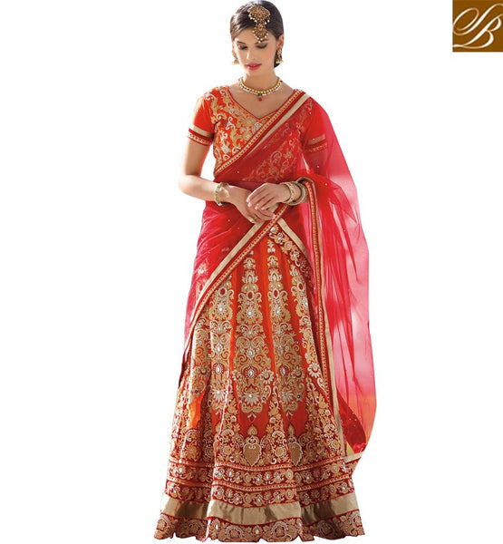 STYLISH BAZAAR ATTRACTIVE LEHENGA CHOLI SAREE DESIGNS ONLINE RTCAN1120