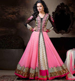 PINK & CREAM SHRADDHA KAPOOR GOWN STYLE ANARKALI WITH DUPATTA 1122A