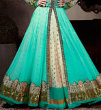 BLUE & CREAM SHRADDHA KAPOOR GOWN STYLE ANARKALI WITH DUPATTA 1122B ANMOL FASHIONS KHWAAB COLLECTION