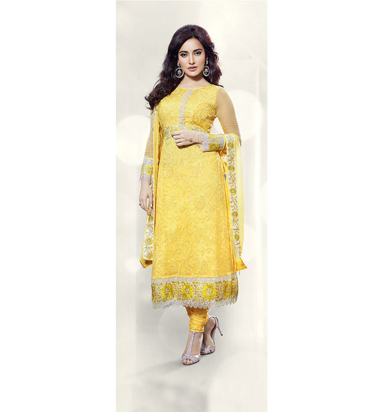 neha sharma yellow dress