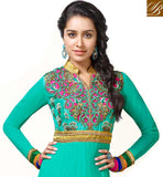 GORGEOUS GREEN SHRADDHA KAPOOR ANARKALI DRESS ANKS1129