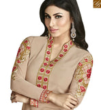 FROM THE HOUSE OF STYLISH BAZAAR SPLENDID CREAM & PINK COLORED DESIGNER SUIT ANZN1129