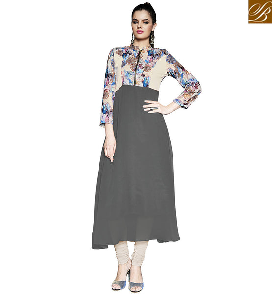 FROM THE STYLISH BAZAAR STUNNING FLOWEY DESIGN DIGITAL PRINTED KURTI DESIGN RTPTY112