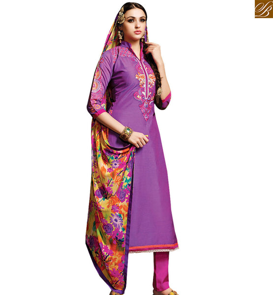 ATTRACTIVE PURPLE COLORED DESIGNER SALWAR KAMEEZ RTSRH112