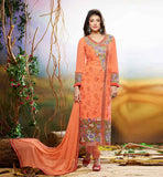 SALWAR KAMEEZ NECK DESIGNS WITH LACES FLORAL THREAD WORK WOMENS DRESS