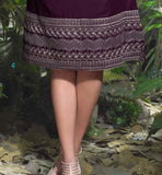 STYLISH LIGHT PURPLE LINEN KURTI WITH EMBROIDERY WORK AT LOWER PART