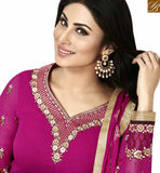 FROM STYLISH BAZAAR EYE CATCHING PINK COLORED DESIGNER SUIT ANZN1134
