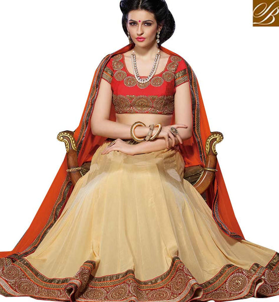 A STYLISH BAZAAR PRESENTATION  ANGELIC WEDDING WEAR LEHENGA SAREE DESIGN RTJS1134