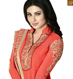 FROM THE HOUSE OF STYLISH BAZAAR PERFECT ORANGE & MAROON COLORED SUIT WITH EYE CATCHING BORDER WORK ANZN1136