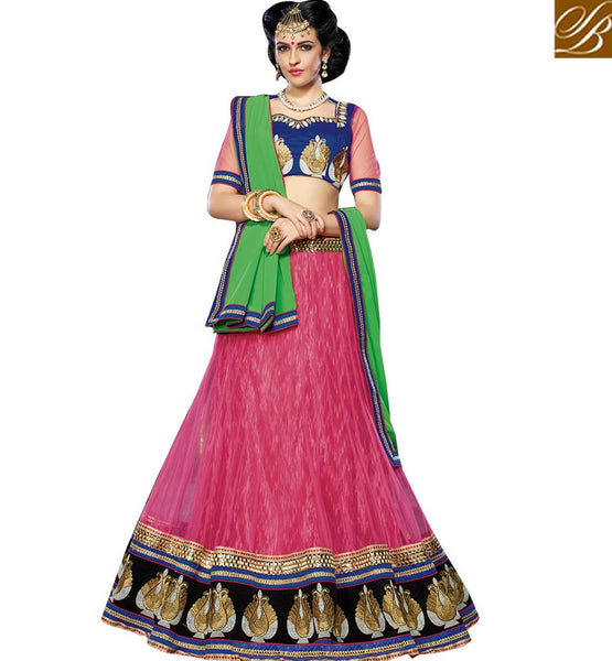 STYLISH BAZAAR INTRODUCES APPEALING EMBROIDERED LEHENGA CHOLI DESIGN FOR MARRIAGES RTJS1136