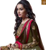 Shraddha Kapoor Cream net Anarkali with embroidered Trouser churidar