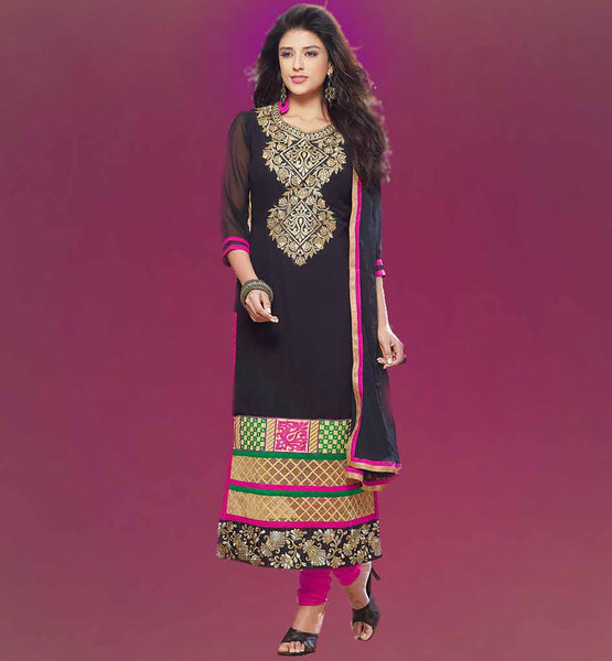 INDIAN SALWAR KAMEEZ DESIGNS DIFFERENT COLOR CLOTH ON FRONT AND BACK