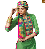 CHARMING GREEN COLORED BEAUTIFUL DESIGN SALWAR SUIT RTSRH114