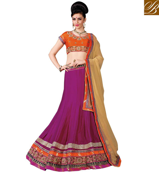 A STYLISH BAZAAR PRESENTATION ENTICING WEDDING WEAR LEHENGA SARI DESIGN RTJS1146