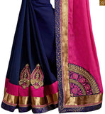FROM THE HOUSE  OF STYLISH BAZAAR MARVELOUS PINK AND BLUE DESIGNER SAREE BLOUSE RTSWA11801