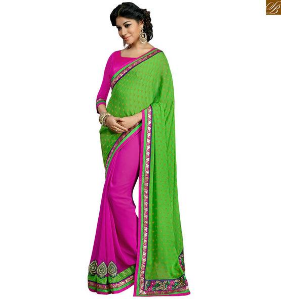A STYLISH BAZAAR PRESENTATION COMMENDABLE DESIGNER SAREE BLOUSE COMBINATION RTSWA11816