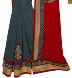BROUGHT TO YOU BY STYLISH BAZAAR CAPTIVATING MAROON CASUAL WEAR RED DESIGNER SARI RTSWA11818