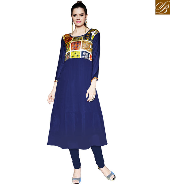 FROM STYLISH BAZAAR BEAUTEOUS DIGITAL PRINTED PARTY WEAR KURTI RTPTY118