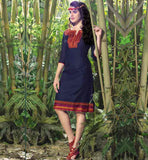 EVER STYLISH KNEE LENGTH DESIGNER LINEN KURTI WITH NECK PATTERNS