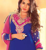 LOVELY BLUE DRESS WITH PINK CHUNARI