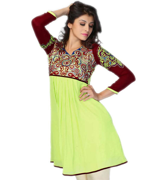 EVER STYLISH INDIAN SHORT FROCK STYLE EMBROIDERED KURTI COLLECTION