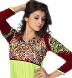 chic new design Indian short tunic top with threadwork