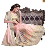 STYLISH BAZAAR PRESENTS IMPRESSIVE PEACH EMBROIDERED SARI ALONG WITH CREAM BLOUSE RTMAG12