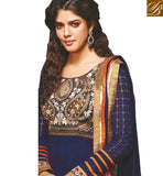 BEAUTIFUL BLUE OCCASION WEAR ANARKALI DRESS WITH CHIFFON DUPATTA MJDS12