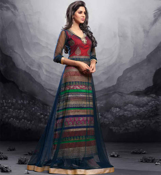 12001 maisha maskeen addiction collection new color net anarkali dress