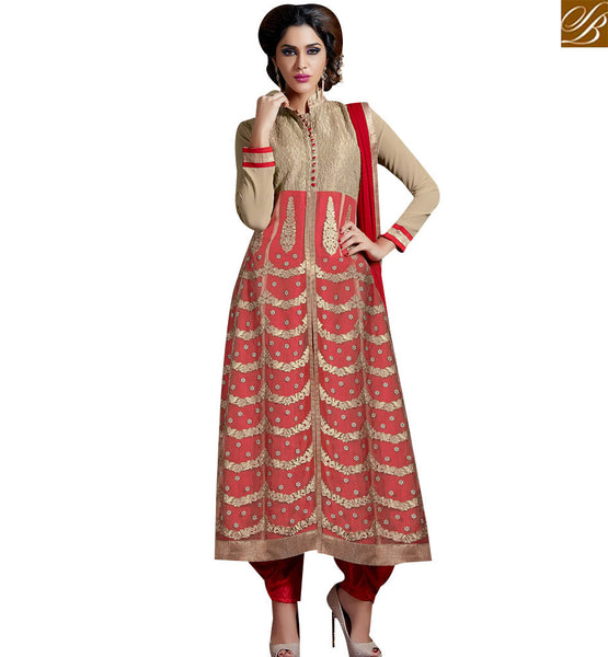 STYLISH BAZAAR TEMPTING DHOTI STYLE DESIGNER SUIT WITH SPLENDID WORK SLAKR12004