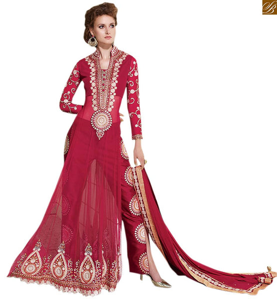 Zoya Glitterz Collection Anarkali Salwar Kameez In Lovely pink color 12005