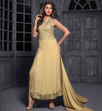 12006 maisha maskeen addiction chikoo long embroidered kurti narrow pant type salwar and nazneen dupatta