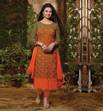 DIVYANKA TRIPATHI TELEVISION CELEBRITY NEW DESIGN PARTY WEAR DRESS