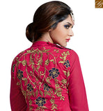 FROM STYLISH BAZAAR EXCELLENT PINK COLORED DESIGNER SUIT WITH EYE CATCHING EMBROIDERED WORK SLAKR12007