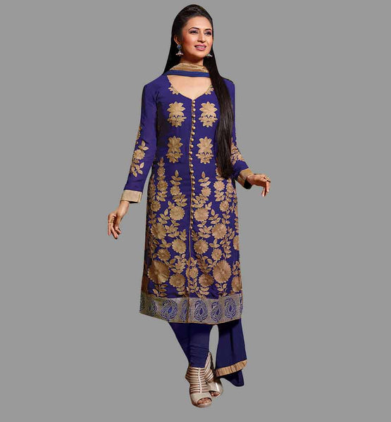 STYLISH CELEB DIVYANKA TRIPATHI IN 2015 DESIGN SALWAR KAMEEZ DRESS