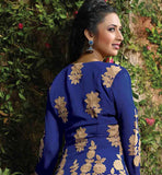 image of Designer salwar kameez with embroidery on back side