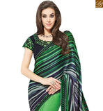 STYLISH BAZAAR PRESENTS DELIGHTFUL GREEN COLORED HALF & HALF SAREE MHNYK12009