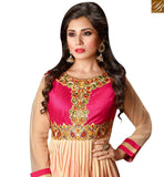 BROUGHT TO YOU BY STYLISH BAZAAR MARVELLOUS PINK GEORGETTE HEAVY EMBEDDED ANARKALI SALWAR KAMEEZ WITH GOWN STYLE SLZOL12010