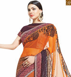 FROM STYLISH BAZAAR BEWITCHING MULTICOLORED DESIGNER FLORAL PRINTED SAREE MHNYK12011