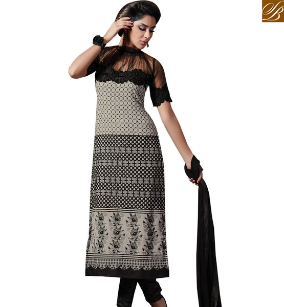 STYLISH BAZAAR ASTONISHING GREY COLORED DESIGNER SALWAR SUIT SLAKR12011