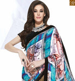 SPLENDID MULTICOLORED DESIGNER HALF & HALF SAREE MHNYK12015