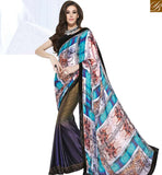 STYLISH BAZAAR SPLENDID MULTICOLORED DESIGNER HALF & HALF SAREE MHNYK12015