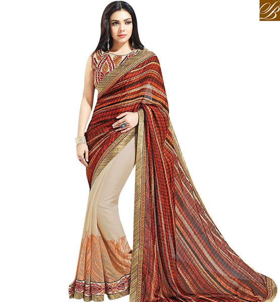 STYLISH BAZAAR MESMERIC MULTICOLORED HALF & HALF SAREE MHNYK12020