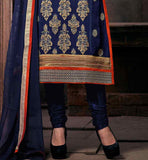 SUPERB CONTRAST COLOR DESIGNING ON THE NECK AND BACK AND SMART BUTTA PATTERN DETAILING ALL OVER THE KAMEEZ BUY SALWAR KAMEEZ DESIGN 2015 FOR INDIAN WOMEN RTNIS1205